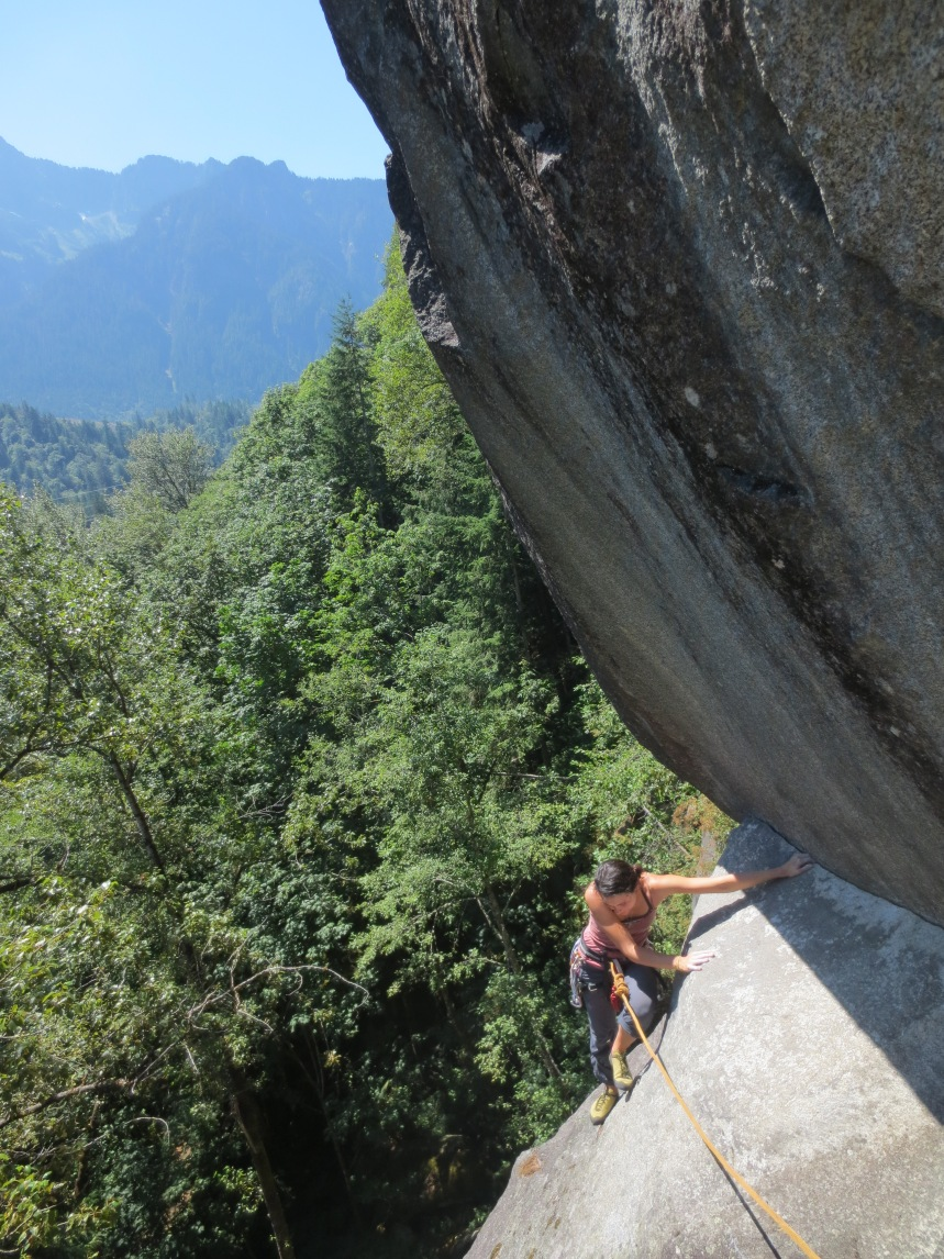 Even Index has beginner routes.  Here, Megan Kelly samples a fine 5.8 on the Great Northern Slab.