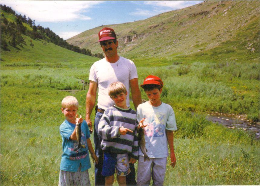 The Smith boys on a typical Montana day.