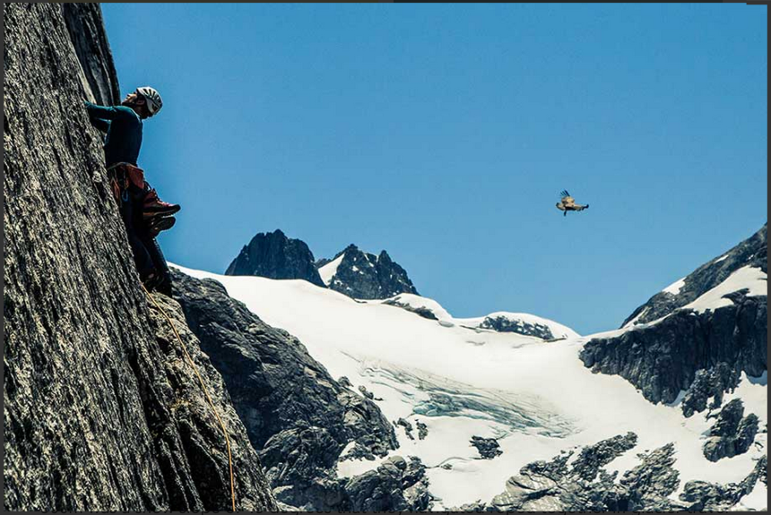 Matt Van Biene captures just another Condor flyby in Patagonia: http://lithographica.arcteryx.com/issue-3#reckless
